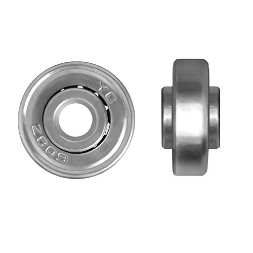 Airkoul Forwardsell Black Luggage Suitcase/Inline Outdoor Skate Replacement Wheels with ABEC 608zz Bearings (40x18mm)