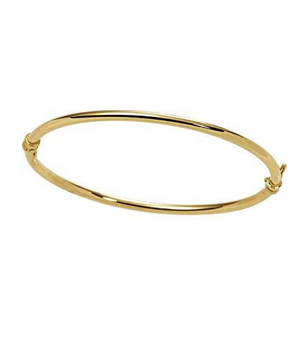 grande vendita 65dac 6944a Bracciale rigido tondo in oro giallo 18kt: Amazon.it: Gioielli