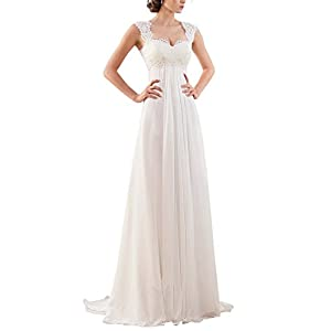 Erosebridal New Sleeveless Lace Chiffon Wedding Dress Bridal Gown