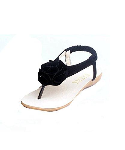DAYAN Mädchen Sandalen Schuhe für Mädchen Flip Flops Sommer-Kind-Schuh-Mädchen-Blumenprinzessin Sandalia Infantil Schuhe Farbe beige Größe 31 hHbbp