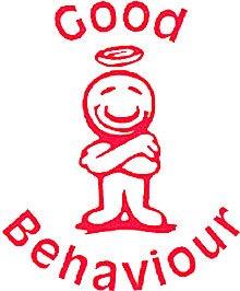 Good Behaviour Self Inking Teachers Reward Stamp X11974 Amazonco