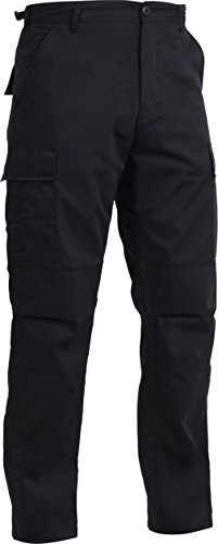 Black Law Enforcement Cloth Poly-Cotton Rip-Stop Cargo BDU Uniform ()