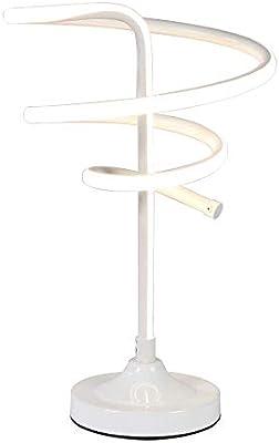WXAN Espiral LED lámpara de Mesa, Curvo LED lámpara de Escritorio ...