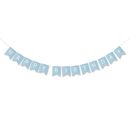 [Happy Birthday Banner - Birthday Party Decorations Blue Bunting Banner Flags Party supplies] (Glamour Personalized Birthday Banner)