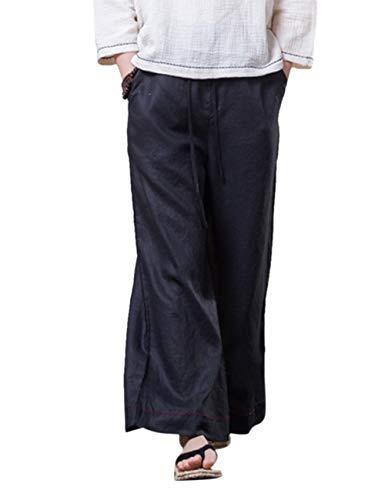 Air Noir 2 Plein Jambe Pantalon BESBOMIG Un De Longue Coton Pantalons Loisirs Boho Yoga Lin Pantalon Large Harem Hippie 6wTfq6B