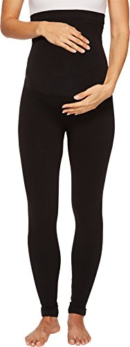 SPANX Women's Mama Look at Me Now Seamless Leggings Very Black Small 26