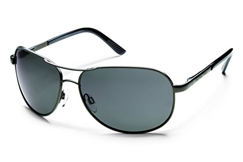 Suncloud Optics Aviator Sunglasses (Gunmetal with Gray Polarized (Gunmetal Polarized Shades)
