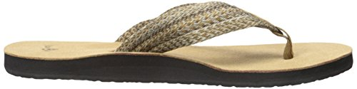 Sanuk Fraid de hombres con Flip Flop Multicolor/Marrón