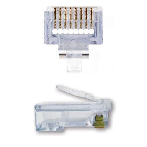 Platinum Tools 100010B 100-Pack EZ-RJ45 Cat 6-Plus Connector