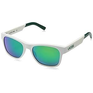 Lacoste L829s Rectangular Sunglasses, White, 54 mm