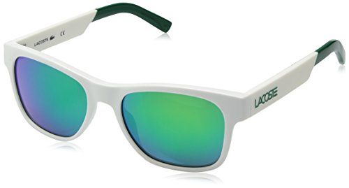 Lacoste L829s Rectangular Sunglasses, White, 54 - Sunglass Lacoste