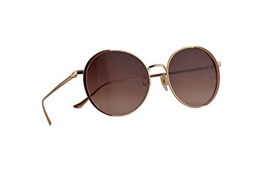 Gucci GG0401SK Sunglasses Gold Burgundy w/Brown Gradient Lens 56mm 002 GG0401/SK 0401/SK GG 0401SK