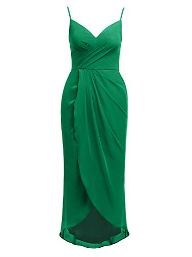 Lo Bridesmaid Alicepub Hi Dress Spaghetti Women Dresses Chiffon s Party Emerald Evening 86xrO08wq
