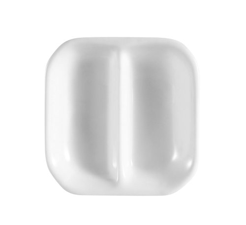 CAC China CN-D2 Accessories 3-1/2-Inch Super White Porcelain 2-Compartment Square Sauce Dish, Box of 72 by CAC China (Image #1)