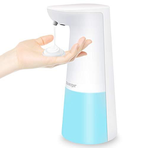 SWEAGER Soap Dispenser Automatic Touchless Foaming | for Kitchen and Bathroom | Sensor Plastic Hand-Free Waterproof Foam Dish Liquid Auto Soap Dispenser (White)
