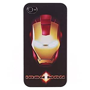 CECT STOCK Hierro Hombre Design PC Hard Case con Marco Negro para iPhone 4/4S