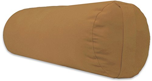 (YogaAccessories Supportive Round Cotton Yoga Bolster - Fawn)