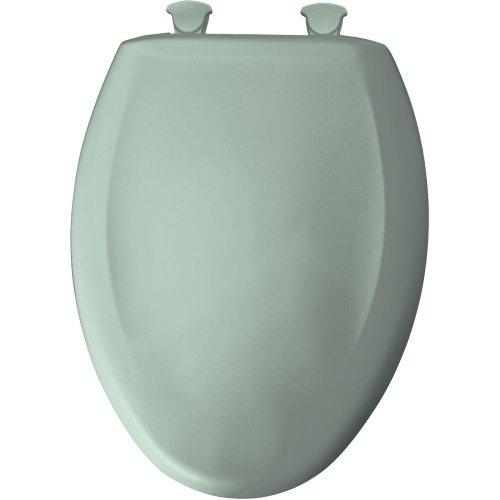 (Bemis 1200SLOWT 455 Slow Sta-Tite Elongated Closed Front Toilet Seat, Seafoam )