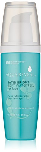 Aquareveal Satin Bright Soft Water Peel for Face | exfoliator for anti-aging, acne, dry, oily, sensitive skin, eczema | 95% organic/natural Korean peeling gel/gommage | large 100 ml/3.4 Fl Oz size