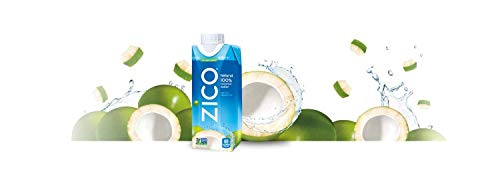 ZICO Natural 100% Coconut Water Drink, No Sugar Added Gluten Free, 11.2 fl oz, 12 Pack (Limited Edition)
