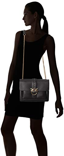 y Shoppers Limousine Seta Nero bolsos Vitello Negro Big hombro Tracolla Love Mujer Simply de Pinko 6wUY0Aqx