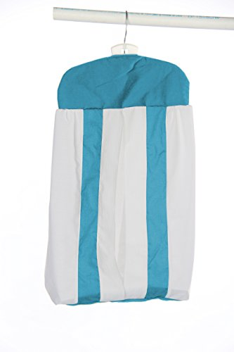 Baby Doll Bedding Modern Hotel Style Diaper Stacker, Aqua