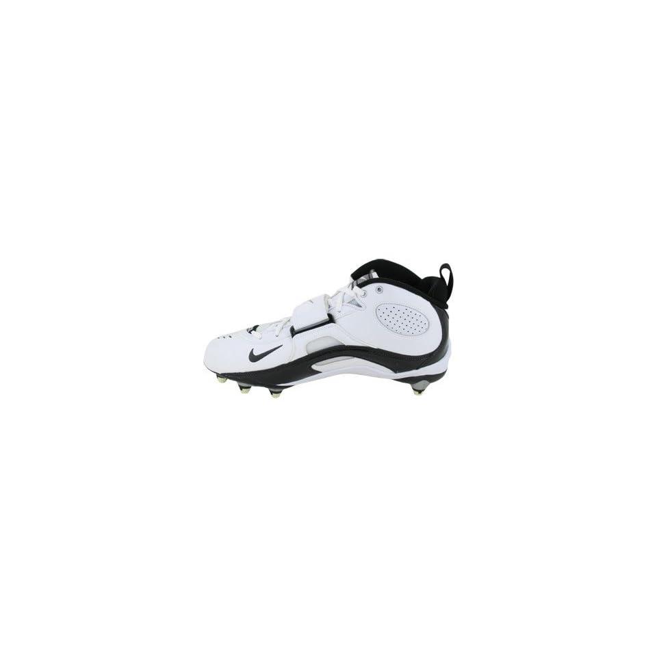 Mens Nike Team Code D 315771 101 Football Cleat White Black (Mens 12, White Black)