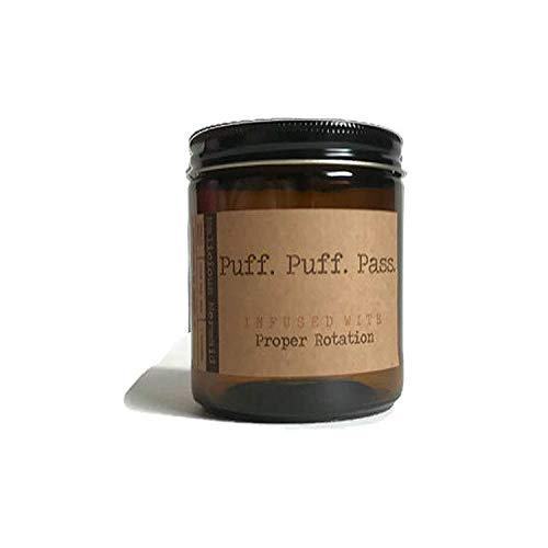 (Puff. Puff. Pass. Premium Soy Wax Candle)