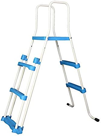 Well2wellness Escalerilla para Piscina Pool Escalera de Seguridad - 2 Peldaños con Plataforma 144/91 cm (024289): Amazon.es: Jardín