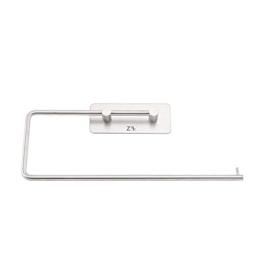 ZOIC 3M Adhesive 304 Stainless Steel Toilet Paper Holder Hooks Tissue Storage Hand Towel Roll Hanger Wall Mount Brushed Dispenser Tissue Roll (12 Inches X 4.33 Inches)