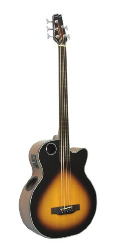Boulder Creek Guitars EBR1-TB5FE 5-Strings Acoustic-Electric Guitar, Tobacco Sunburst Finish
