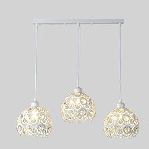 - BYJUM Modern Minimalist Crystal Chandelier Restaurant Foyer Aisle Corridor Porch Decorative Lights,3Lightsfiladritta