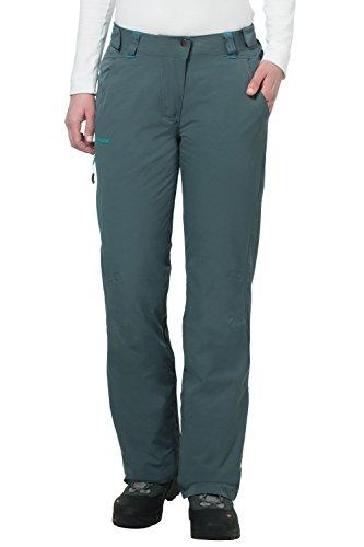 VAUDE Hose Womens Craigel Padded Pants - Pantalones de lluvia para mujer gris
