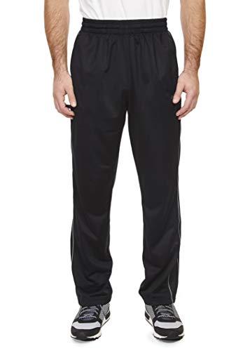 (Spalding Mens Tricot Throwback Track Pants Black Large)