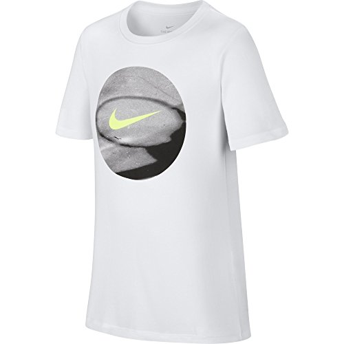 Price comparison product image NIKE Boys' Dry Photo Basketball Tee,  White,  Small