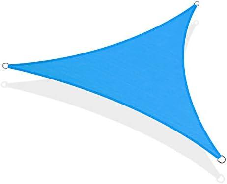 KITADIN 20' x 20' x 20' Sun Shade Sail Triangle Blue UV Block Awning Shelter Canopy