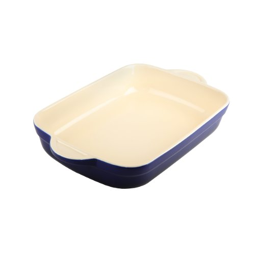 Denby Oven to Table Oblong Casserole/Lasagna, 3.1-Liter, Blue