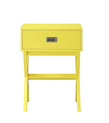 Convenience Concepts 203145Y End Table, Yellow (Accent Yellow Table)
