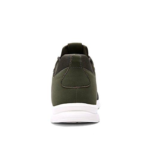 de Foncé athlétique Course Tennis Baskets Sneaker Jogging Running Hommes Chaussures Multisports EARSOON Chaussures Vert Entraînement wxqSva6tBt