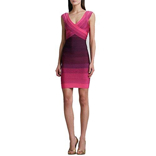 HLBCBG - Vestido - Sin mangas - para mujer morado