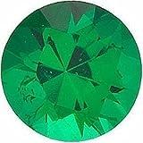 Loose Emerald Gemstone, Round Shape, Grade GEM, 2.75 mm in Size, 0.08 Carats