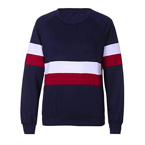 2164caf8c6b3dd high-quality Damen Sweatshirt Mode Teenager Mädchen Patchwork Pullover  Casual Loose Langarmshirt Jumper Crop Oberteil