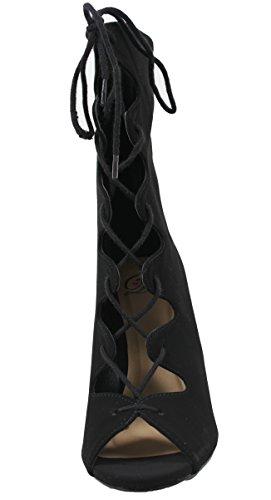 Deliziose Scarpe Da Donna Con Tacco A Spillo E Tacco Medio A Stiletto Con Tacco Alto Nero