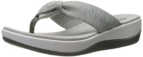 Clarks Women's Arla Glison Flip Flop, Grey Heather Fabric, 8 M US