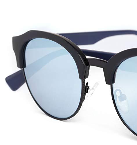 Negro de Navy Hawkers Classic Azul 60 nbsp;Rounded Sol Gafas Black Unisex Chrome Blue 6qHwx5v0H