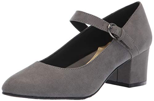 (Soft Style by Hush Puppies Women's Dustie Pump, Dark Grey Faux Suede, 11 M US)