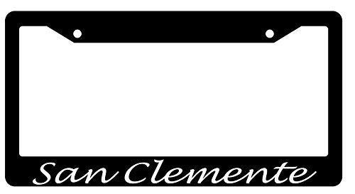 San Clemente Script (Design) Humor Funny License Plate Frame Aluminum Metal License Plate Cover Holder 2 Hole with Screws Car Tag Frame (San Clemente Flowers)