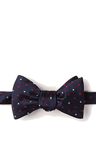 navy blue and coral bow tie - 9
