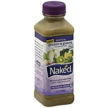 NAKED PROTEIN JUICE SMOOTHIE PROTEIN & GREENS 15.2 OZ PACK OF 3