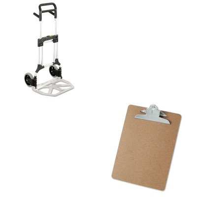 KITSAF4055NCUNV40304 - Value Kit - Safco Stow-Away Heavy-Duty Hand Truck (SAF4055NC) and Universal 40304 Letter Size Clipboards (UNV40304) by Safco